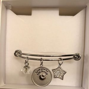 Jewelry - Sterling Silver Bracelet Love You to the Moon